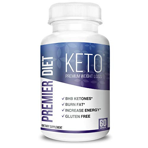 Premier Diet KETO - Keto BHB Supplement with 800mg Ketone Salts for Ketosis, and Perfect Energy - 60 Keto Pills (Capsules) - Beta Hydroxybutyrate Base Pure Exogenous Ketones (Best Wine To Drink On A Diet)