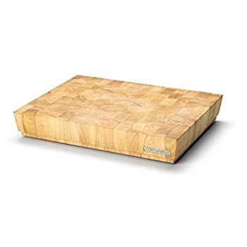 Image of Cutting Boards Continenta Chopping Block Out of Rubber Tree End Grain Wood