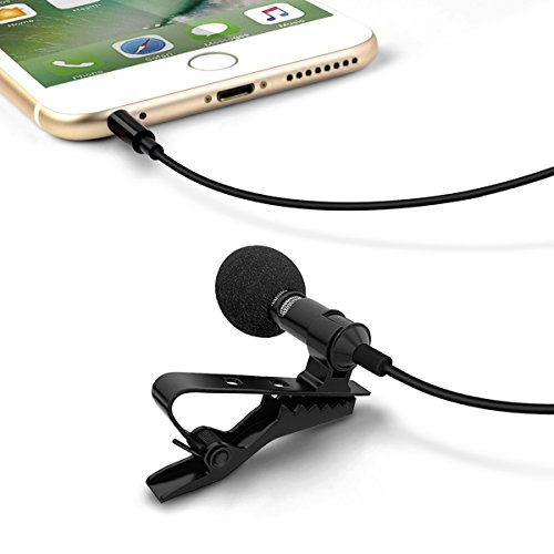 Condenser Omnidirectional Lavalier Stereo Microphone