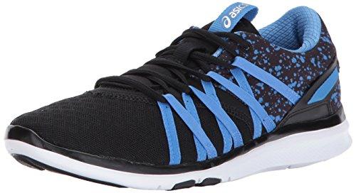 ASICS Women's Gel-Fit Yui Cross-Trainer-Shoes, Black/Regatta Blue/Silver, 7 Medium US by ASICS