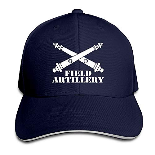 Army Field Artillery Branch Insignia Crossed Cannons Veteran Sandwich Hats Baseball Cap Hat Snapback Hat Dad Hat ()