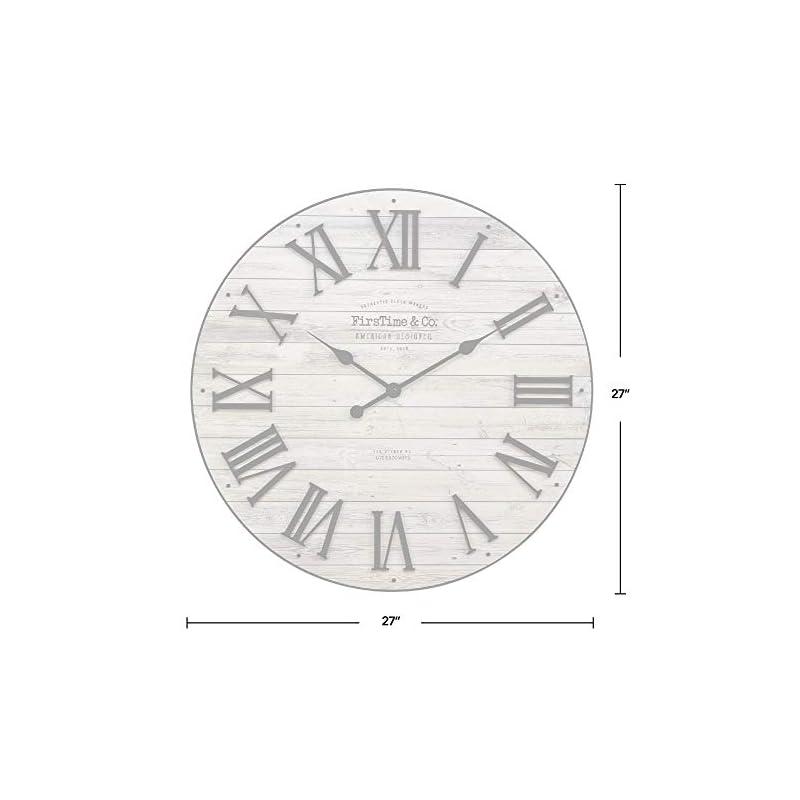 FirsTime & Co. Brown Emmett Farmhouse Shiplap Clock, American Designed, Brown, 27 x 2 x 27 inches (31204)