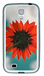 Red SunFlower Theme Case for Samsung Galaxy S4 i9500 Rubber Material White by ruishername