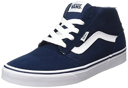 Vans Men's Chapman Mid Hi-Top Sneakers Blue ((Suede/Canvas) Dress Blues/White K8n) discount wiki classic sale online quality outlet store LqVvn