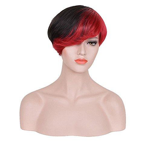 DURUI Women's Short Wigs Natural Glueless Synthetic Fiber Ha
