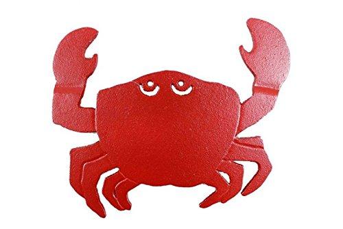 Rustic Red Cast Iron Crab Trivet 11 Inch - Crab Decoration - Coastal Living