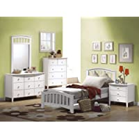 Acme 09158 San Marino Nightstand, White