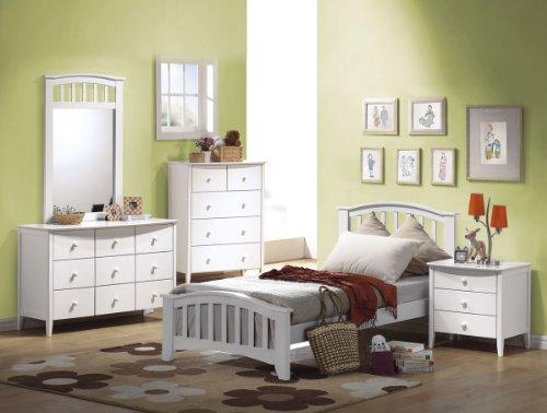 ACME 09159 San Marino Dresser, White (Furniture Marina Outlet)