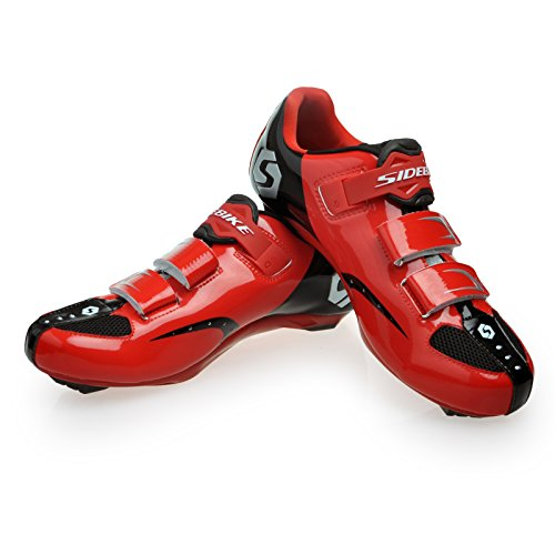 Sidebike Men's Road Cycling Shoe US 9 Black&Red