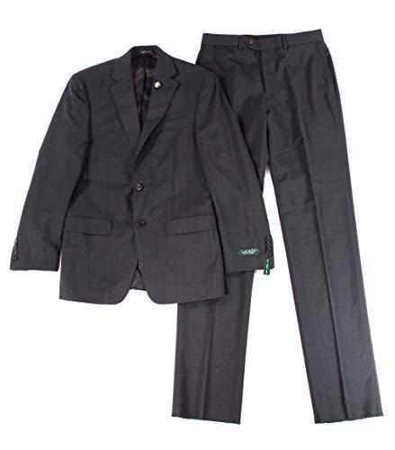 Lauren By Ralph Lauren Mens R Two Button Wool Suit Set Black 36