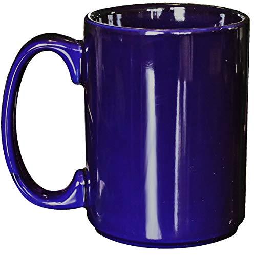 - ITI Ceramic Grande Coffee Mugs with Pan Scraper, 13 Ounce (6-Pack, Cobalt Blue)