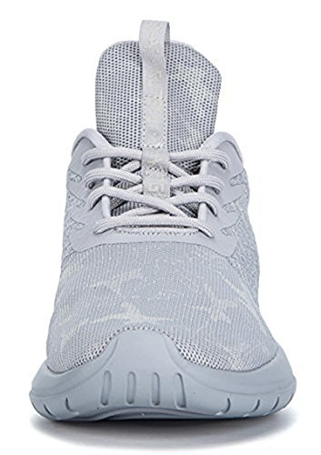 Soulsfeng Men Women Unisex Casual Fashion Sneakers Glow In Dark Running Shoes (Men US8.5=EUR42=26.5CM, Grey (Fabric Lining))