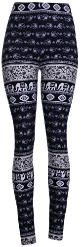 High Quality Printed Leggings,One Size (Ceramic Elephant)