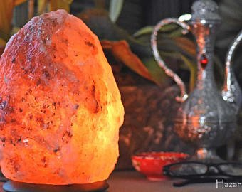 BY Magic Salt  Himalayan crystal pink rock salt lamp weight 2-3 kg height 19-21 cm - with all electric fittings CE certified UK standard 3 pin cable and e14 oven bulb, polished wood base -Premium Quality Fine salt Crystals directly comes f