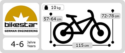 bikestar-406cm-16-pulgada-Bicicleta-para-nios-Clsico-Verde
