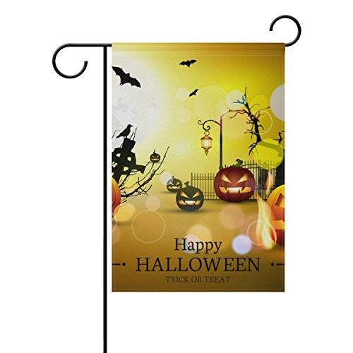 U LIFE Decorative Happy Halloween Pumpkin Trick Or Treat Gar
