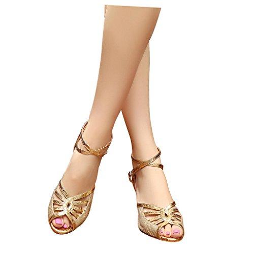 Kantapää 3 Naisten Sandaalit Latin Toe Kultaa Tanssisali Tango Misu Tanssikengät Käytännössä Peep 3 Salsa 7xRvxwaq