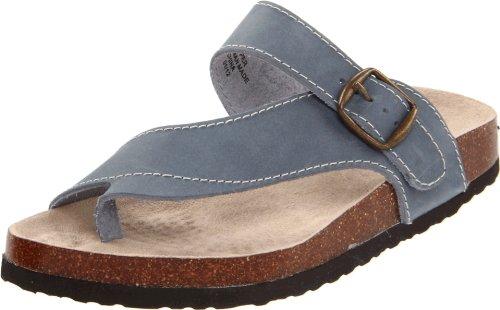 White Mountain Women's Carly Black Patent Sandal