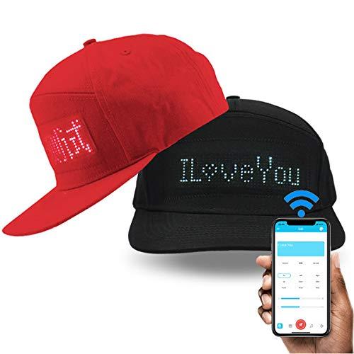 shunpad LED Cool Hats for Men Baseball Halloween Birthday New Year's Christmas Party Supplies Hat Black]()