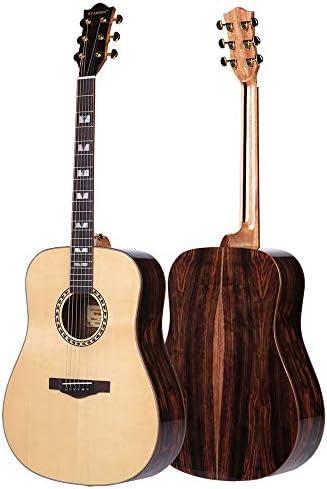 ギター ナチュラル41インチアコースティックギターエボニーウッドマテリアルギター 初心者 入門 (Color : Natural, Size : 41 inches)