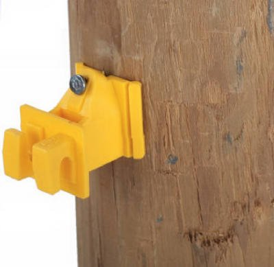 Dare Products 1728-25 Snug Wood Post Insulator, Yellow, 25 Count