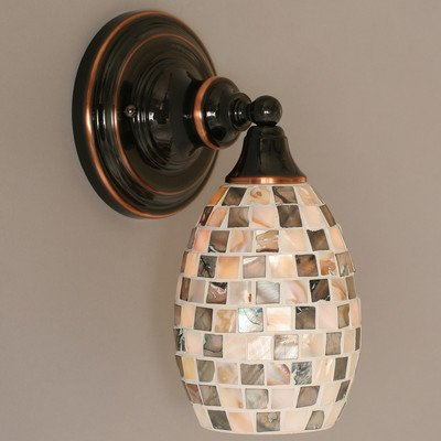 11-in-Seashell-Glass-Wall-Sconce-in-Bronze-Finish