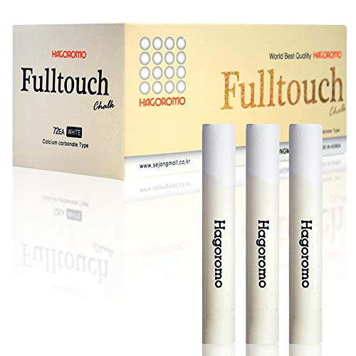 HAGOROMO Fulltouch Color Chalk 1 Box [72 Pcs/White]