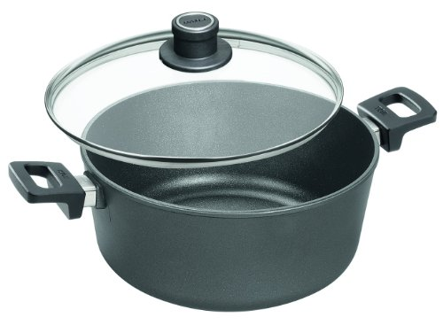 Woll Nowo Titanium Stockpot with Vented Glass Lid,  6.3 Quart