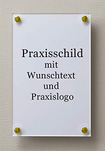 Puerta Cartel clásico de acrílico 2/Plexiglas con blanco ...