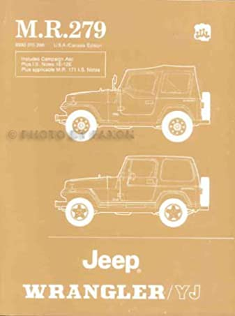 1986 1988 Jeep Wrangler Yj Repair Shop Manual Original With Is Notes Rh  Amazon Com 1988 Jeep Wrangler YJ Parts 1989 Jeep Wrangler Yj Repair Manual  Pdf