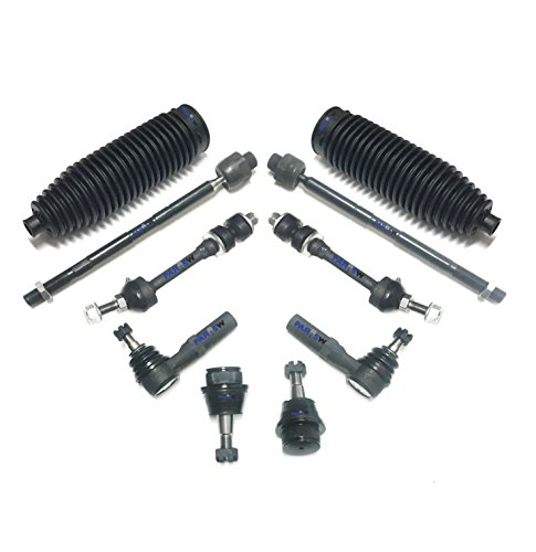 Price comparison product image PartsW 10 Pc Front Suspension Kit for Dodge Ram 1500 RWD Models Only Inner & Outer Tie Rod Ends,  Sway Bar End Links,  Lower Ball Joints,  Rack & Pinion Bellows