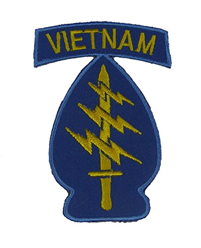 5TH SPECIAL FORCES GROUP AIRBORNE WITH VIETNAM ROCKER PATCH - Blue/Gold - Veteran Owned - Abns Group