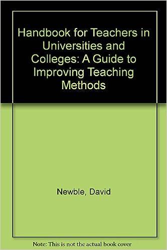 Handbook for Teachers in Universities and Colleges: David