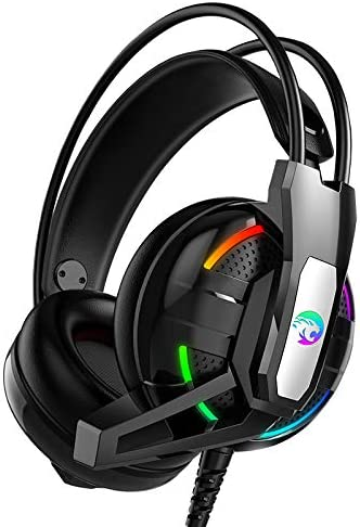 Gaming Headset Deep Bass Stereo Computer Headphones With Microphone LED Light PC