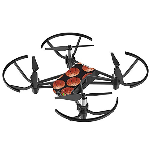 MightySkins Skin for DJI Ryze Tello Drone - Basketball | Protective, Durable, and Unique Vinyl Decal wrap Cover | Easy to Apply, Remove, and Change Styles | Made in The USA