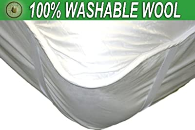 Natural Premium WASHABLE 100% Australian Wool Mattress Pad