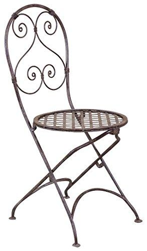 Conjunto de 2 sillas plegables en hierro forjado con acabado ...