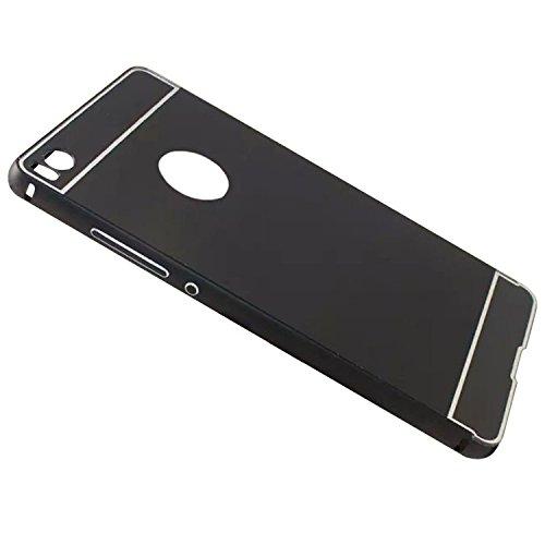 Huawei Ascend P8 Lite Funda de movil - TOOGOO(R)Aluminio Metal Tope Cubierta PC Funda trasera para HUAWEI Ascend P8 Lite Negro