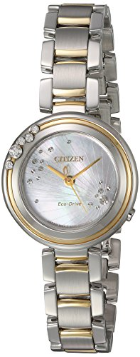 Citizen Women's 'Eco-Drive' Quartz Stainless Steel Casual Watch, Color:Two Tone (Model: EM0464-59D)