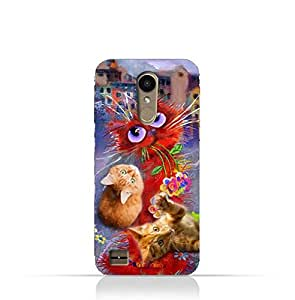 LG K10 2017 TPU Protective Silicone Case with Adorable Cute Cats Design