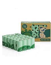 Green Maker Sacchetti di Cacca di Cane 360 Sacchetti di Rifiuti di Cane Biodegradabili 30% più Spessa Fatti da Amido di Mais (Nero)