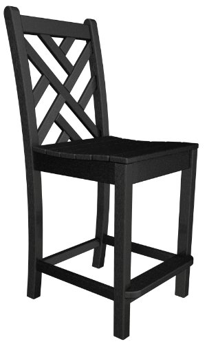 Chippendale Counter Side Chair Finish: Black ()