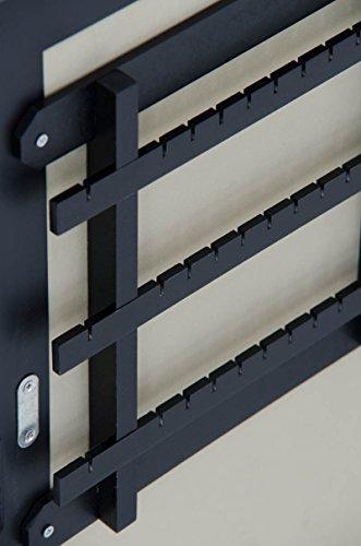 CLP Neigbarer Tisch Kosmetik-Spiegel, Schmuckschrank GINA - bis zu 3 Farben wählbar, Landhaus-Stil schwarz -