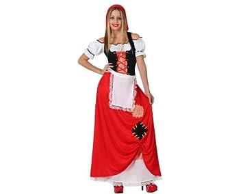 Atosa-17248 Atosa-17248-Disfraz Pastora Mujer Adulto-Talla Navidad, Color rojo, ML (17248