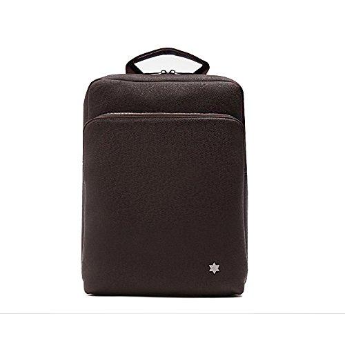 Unisex Leder Laptop Rucksack bis 35,6cm Laptop