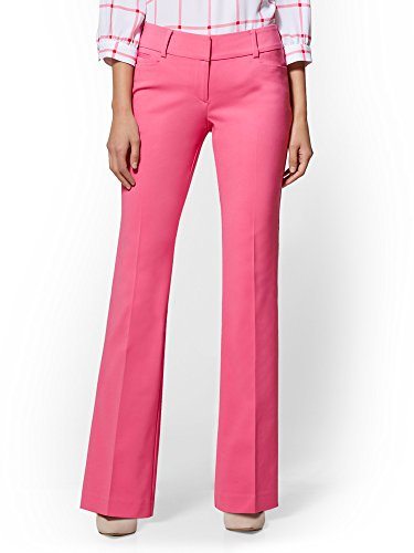 New York & Co. 7Th Avenue Pant - Mid Rise - Bootcut 6 Pink Flamingo