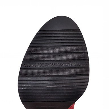 Bottes Bout Noir Pour Mode Femme Bottine Lacet Similicuir Gray Talon Gros Décontracté Desy La Chaussures Rond Hiver À Automne Botte demi CPwnHqX