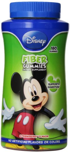 Disney Fibre Gummies, 180 Count