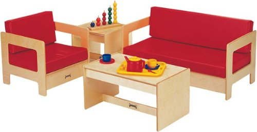 Jonti-Craft 0380TK Living Room 4 Piece Set - Red - ThriftyKYDZ ()