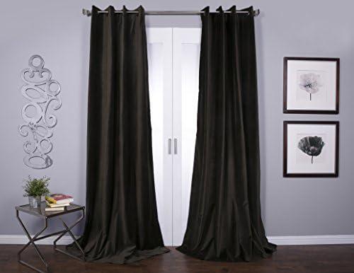 Lambrequin Tao Cotton Velvet 96-Inch Curtain Panel